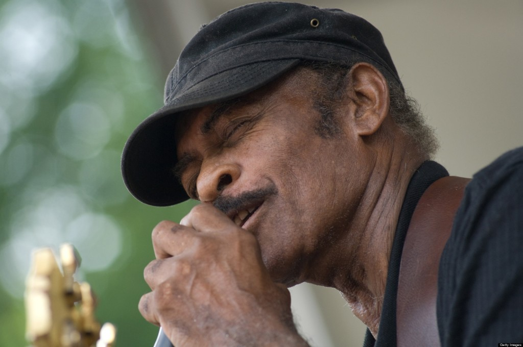 Jimmy Dawkins performs on stage at The Chicago Blues Festival on June 11, 2010 in Chicago
