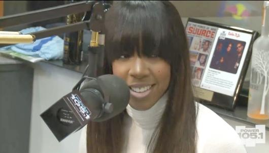 kelly rowland (on breakfast club)