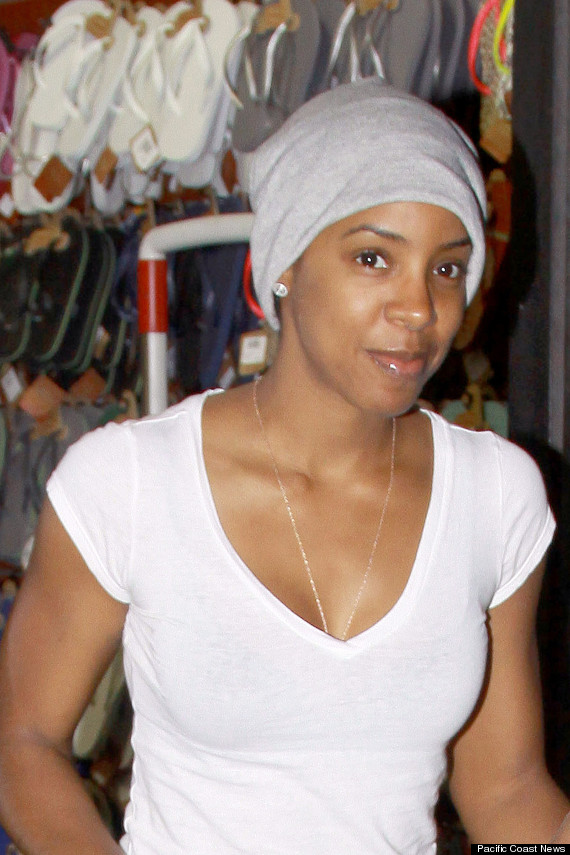A bare faced Kelly Rowland seen out and about at Rickys in New York City.