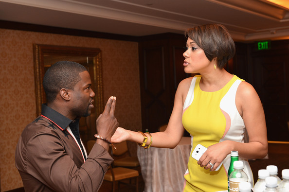 Actor Kevin Hart and Cynthia Kaye McWilliams attend the BET Networks' 2013 Los Angeles Upfront at Montage Beverly Hills on April 2, 2013 in Beverly Hills