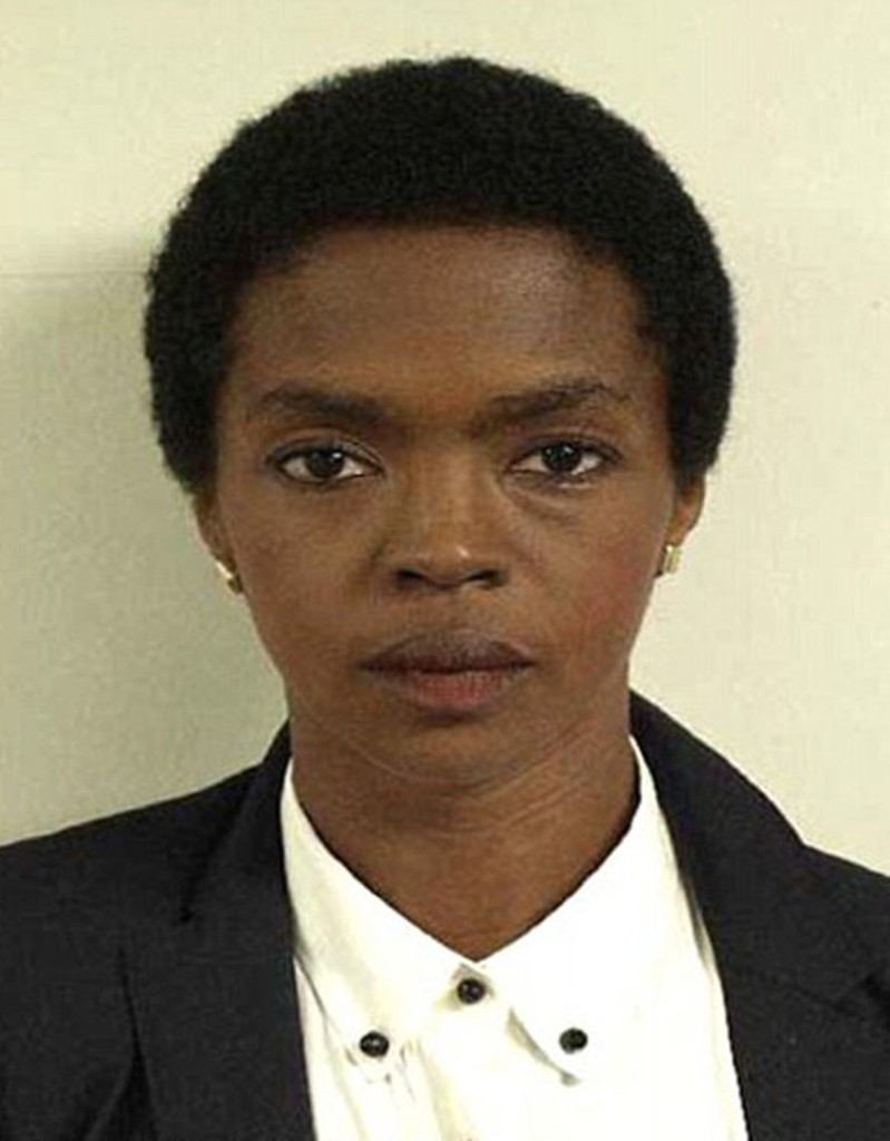 Lauryn Hill's mugshot taken Aug. 12, 2012 for failing to file tax returns between 2005 and 2007, during which time she earned $1.8 million.