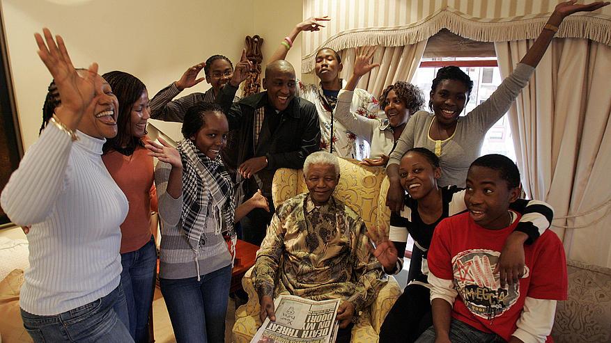 nelson mandela and grandchildren