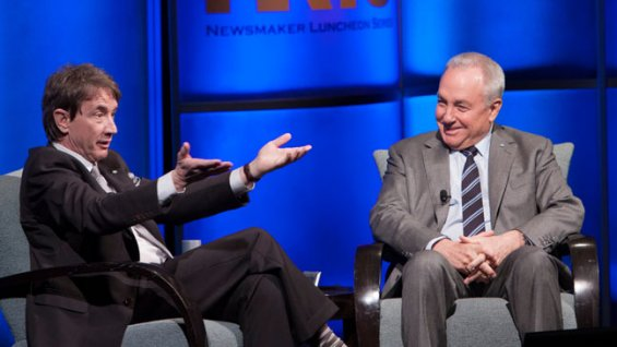 Martin Short and Lorne Michaels