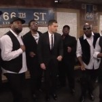 Michael Buble' Performs Acappella in NYC Subway with 'Naturally 7′ (Video)
