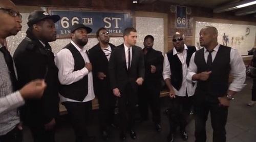 michael buble nyc subway