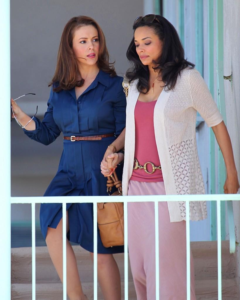 "Alyssa Milano and Rochelle Aytes in ABC's ""Mistresses"""