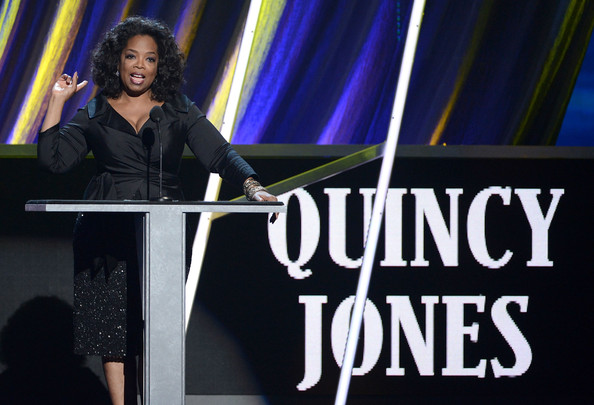 Quincy Jones presenter Oprah Winfrey