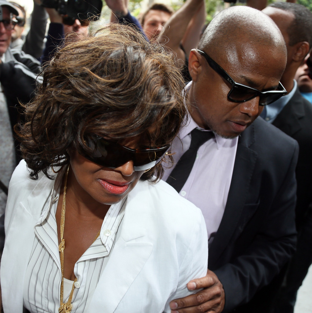 Rebbie Jackson (L) and Randy Jackson attend the Jackson vs AEG court case at the Stanley Mosk Courthouse on April 29, 2013 in Los Angeles