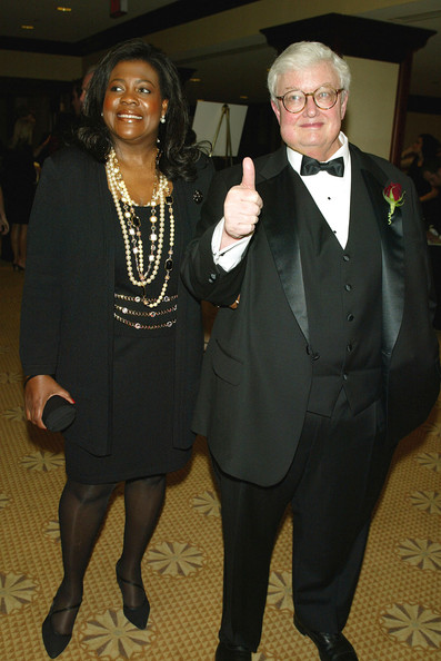 Film Critic Roger Ebert (R) and his wife Chaz arrive at the American Society of Cinematographers 17th Annual Outstanding Achievement Awards at the Century Plaza Hotel on February 16, 2003 in Los Angeles