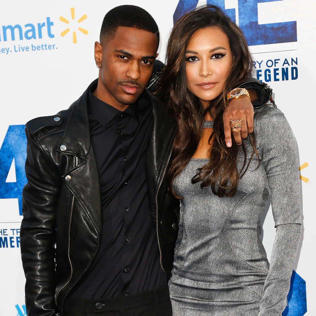 Rapper Big Sean (L) and actress Naya Rivera attend the premiere of Warner Bros. Pictures' And Legendary Pictures' '42' at TCL Chinese Theatre on April 9, 2013 in Hollywood, California