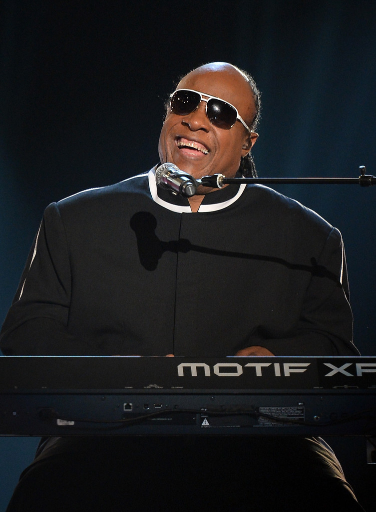 Singer Stevie Wonder performs onstage during the 48th Annual Academy of Country Music Awards at the MGM Grand Garden Arena on April 7, 2013 in Las Vegas