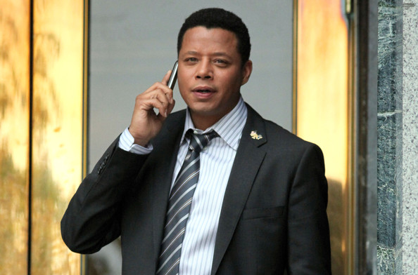 Actor Terrence Howard on the set of 'The Company You Keep' at the Vancouver City Hall in Vancouver, Canada. (November 7, 2011)