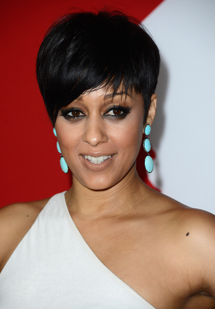 "Actress Tia Mowry-Hardrict arrives at the premiere of Summit Entertainment's ""Warm Bodies"" at ArcLight Cinemas Cinerama Dome on January 29, 2013 in Hollywood"