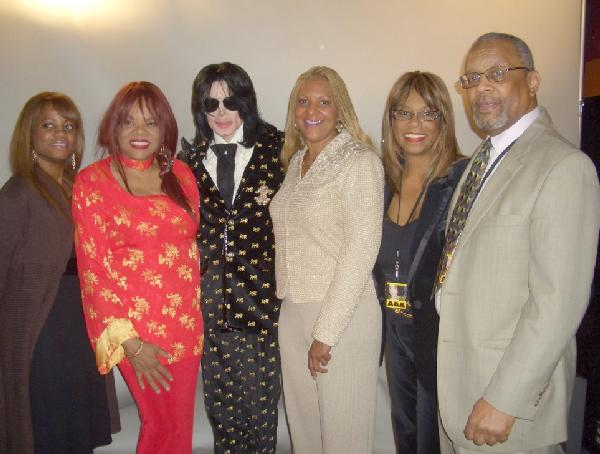 Linda Mayhand Parrish, Jamie Foster Brown, Michael Jackson, Raymone K. Bain, Adean Wells King and Van Alexander