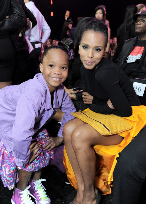 Quvenzhane Wallis and Kerry Washington
