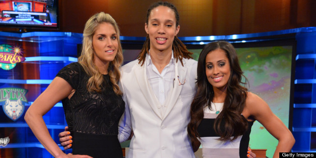 (L-R) WNBA prospects Elena Delle Donne, Brittney Griner, and Skylar Diggins pose for a portrait prior to the 2013 WNBA Draft Presented By State Farm on April 15, 2013 at ESPN in Bristol, Connecticut.