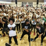 "Mindless Behavior leads the crowd through Beyonce's ""Move Your Body""."