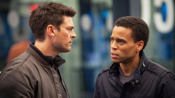 "Karl Urban and Michael Ealy in Fox's ""Almost Human"""
