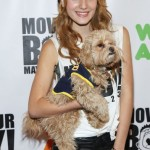 Bella Thorne and her dog strike a pose upon arrival at Move Your Body 2013