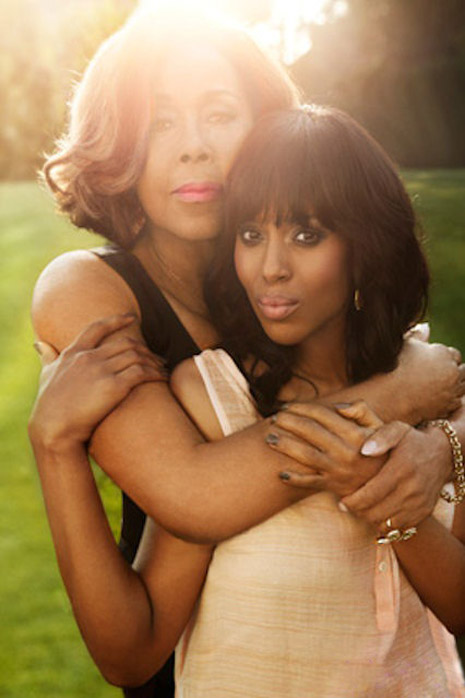 Diahann Carroll and Kerry Washington in the Feb. 2013 issue of O Magazine