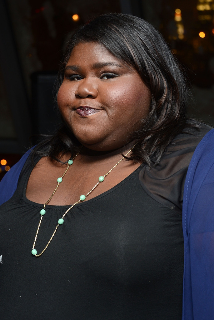 "Actress Gabourey Sidibe attends The Cinema Society and Artistry screening of ""Warm Bodies"" after party at Penthouse at Hotel Rivington on January 25, 2013 in New York City"