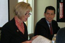 Congresswoman Hahn and Dario J. Gomez