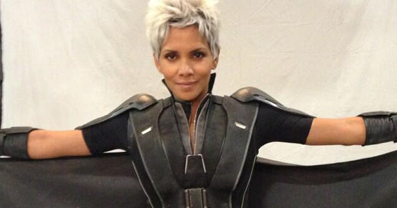 "Halle Berry suits up as Storm on the set of ""X-Men: Days of Future Past"""