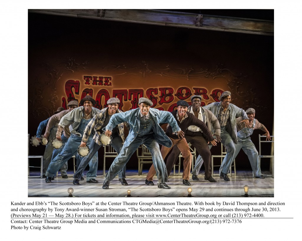 The Scottsboro Boys, now at The Ahmanson Theatre thru June 30th 2013