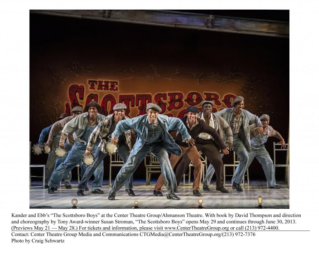 The Scottsboro Boys, now at The Ahmanson Theatre thru June 30th 2013