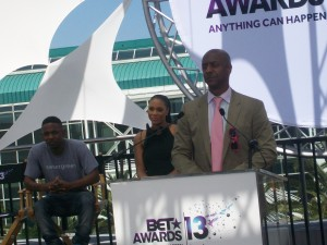 BET Networks' President of Music Programming and Specials moderate BET Awards '13 nominee announcements.