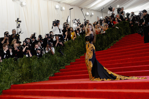 "Beyonce Knowles attends the Costume Institute Gala for the ""PUNK: Chaos to Couture"" exhibition at the Metropolitan Museum of Art on May 6, 2013 in New York City."