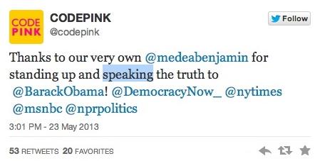 code pink tweet