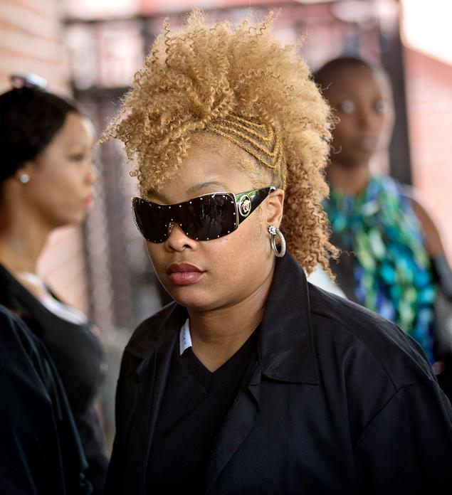 Da Brat attends the funeral of Chris Kelly (May 9, 2013)