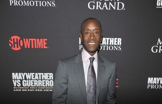 don cheadle at mayweather fight
