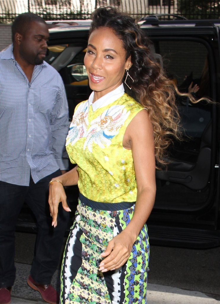 Jada Pinkett Smith out and about in New York City, New York on April 3, 2013.