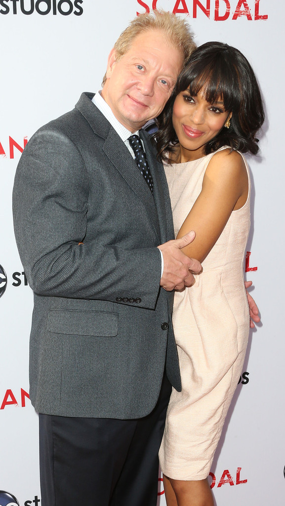 """Actor Jeff Perry (L) and actress Kerry Washington attend Academy of Television Arts & Sciences' Presents an Evening with """"Scandal"""" at the Leonard H. Goldenson Theatre on May 16, 2013 in North Hollywood"""