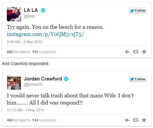 la la & crawford tweets