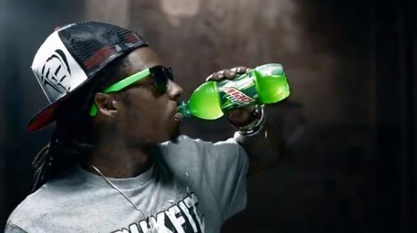 lil wayne drinking mountian dew