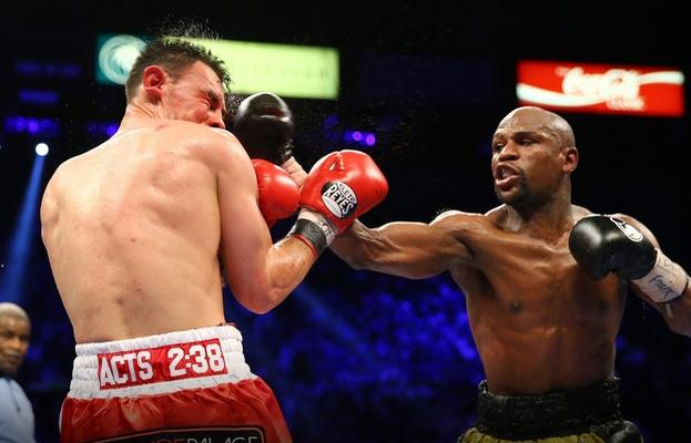 mayweather & guerrerro (in the ring)