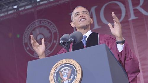 obama morehouse (podium)