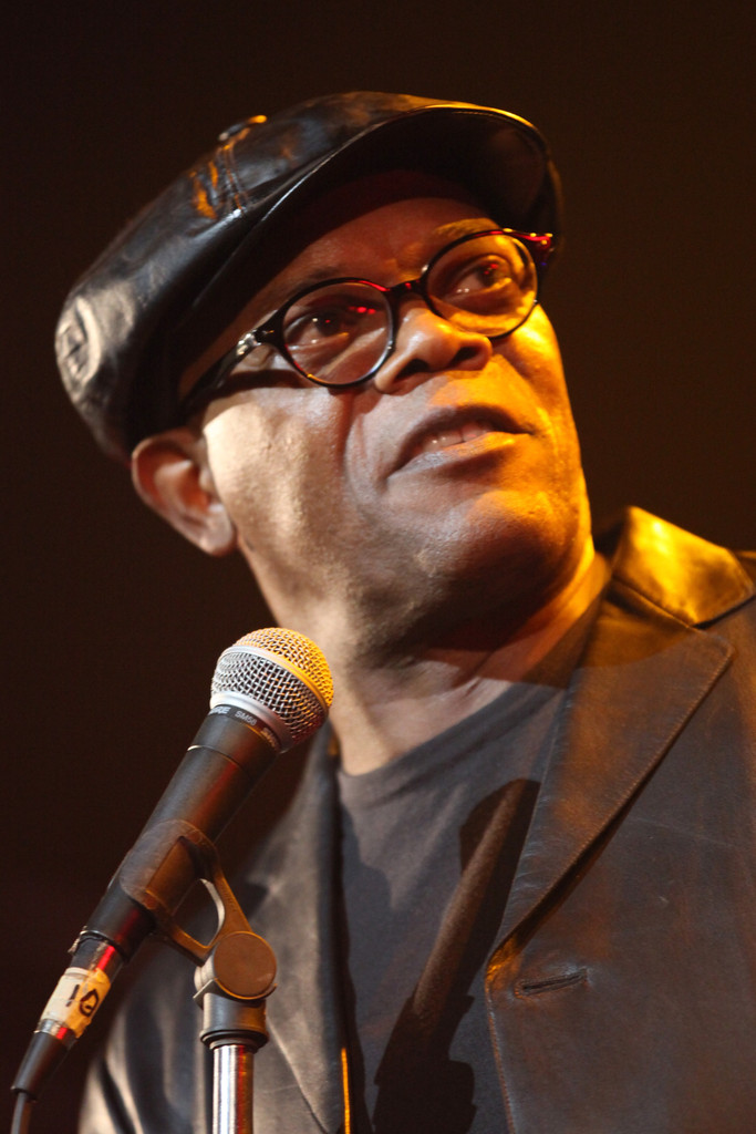 Actor Samuel L. Jackson speaks onstage during the Second Annual Hilarity For Charity benefiting The Alzheimer's Association at the Avalon on April 25, 2013 in Hollywood