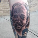 Cleveland (Stephen Munhollow) Man Gets Tattoo of Charles Ramsey on His Leg