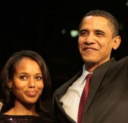 kerry washington & president barack obama