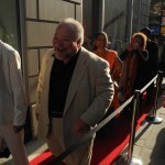 Stephen Mckinley enters The Jerome L. Greene Performance Space.