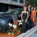 Indira Etwaroo, Kenny Leon, Ruben Santiago-Hudson, Phylicia Rashad, Marion McClinton, Stephen McKinley Henderson and Eric Rouse of Lincoln Motor Company with the Lincoln MKZ.