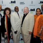 Kenny Leon, Marion McClinton, Eric Rouse of Lincoln Motor Company, Stephen McKinley Henderson, Phylicia Rashad and Kenny Leon on the Lincoln step and repeat at the at the August Wilson American Century Cycle Launch Event at The Jerome L. Greene Performance Space at WNYC and WQXR.