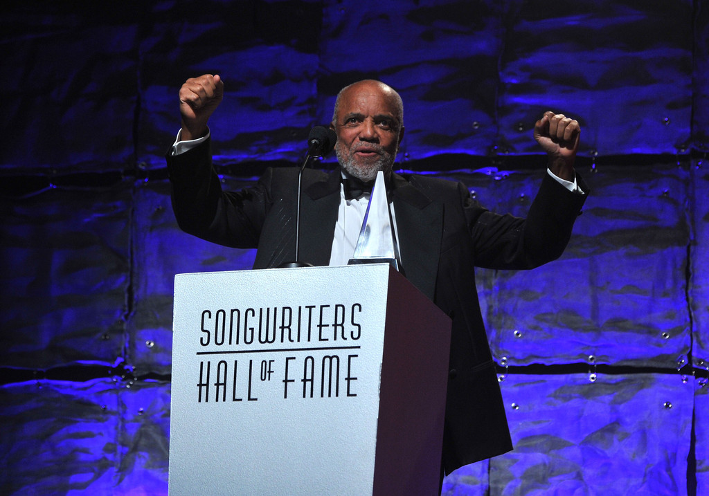 Berry Gordy speaks at the Songwriters Hall of Fame 44th Annual Induction and Awards Dinner at the New York Marriott Marquis on June 13, 2013 in New York City