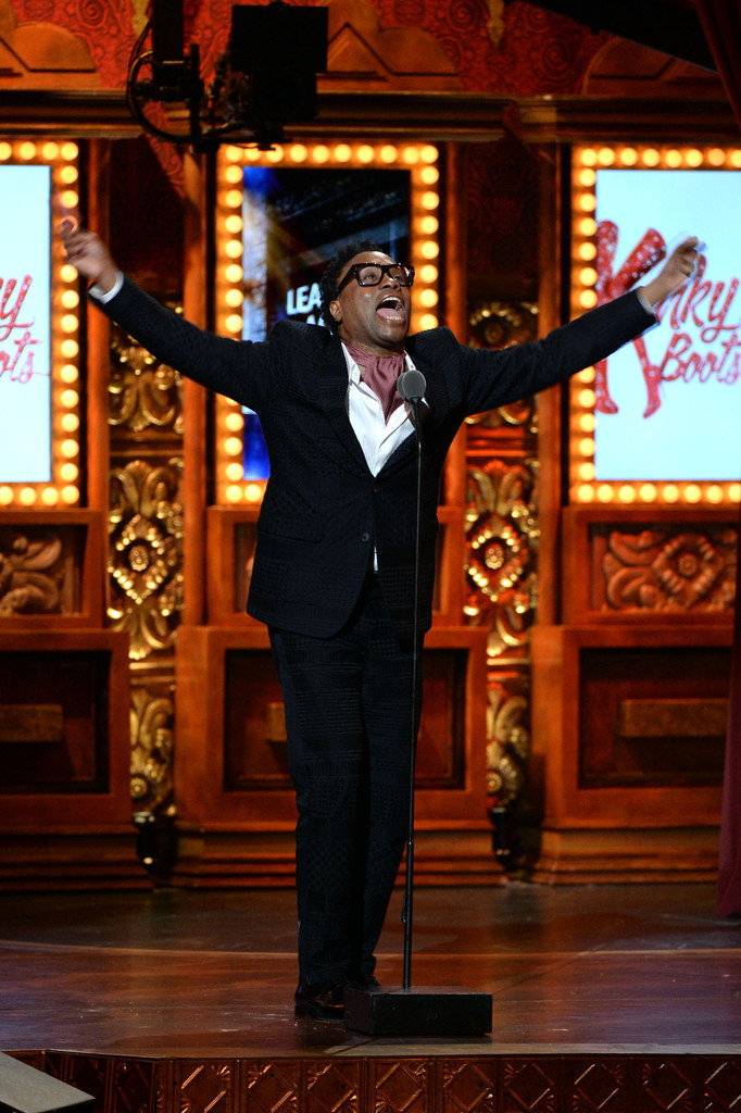 "Billy Porter accepts the Tony Award for Best Performance by an Actor in a Leading Role in a Musical for his role in ""Kinky Boots"" at The 67th Annual Tony Awards at Radio City Music Hall on June 9, 2013 in New York City"