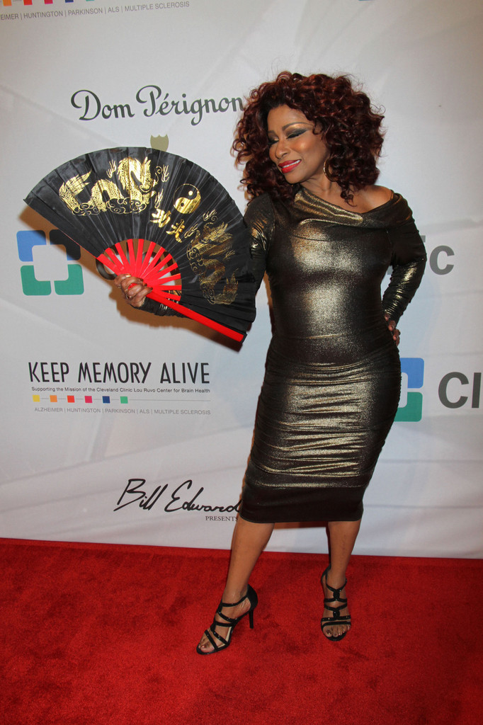 Singer Chaka Khan attends the 17th annual Keep Memory Alive 'Power of Love Gala' benefit for the Cleveland Clinic Lou Ruvo Center for Brain Health celebrating the 80th birthdays of Quincy Jones and Sir Michael Caine at the MGM Grand Hotel and Casino in Las Vegas. (April 13, 2013)