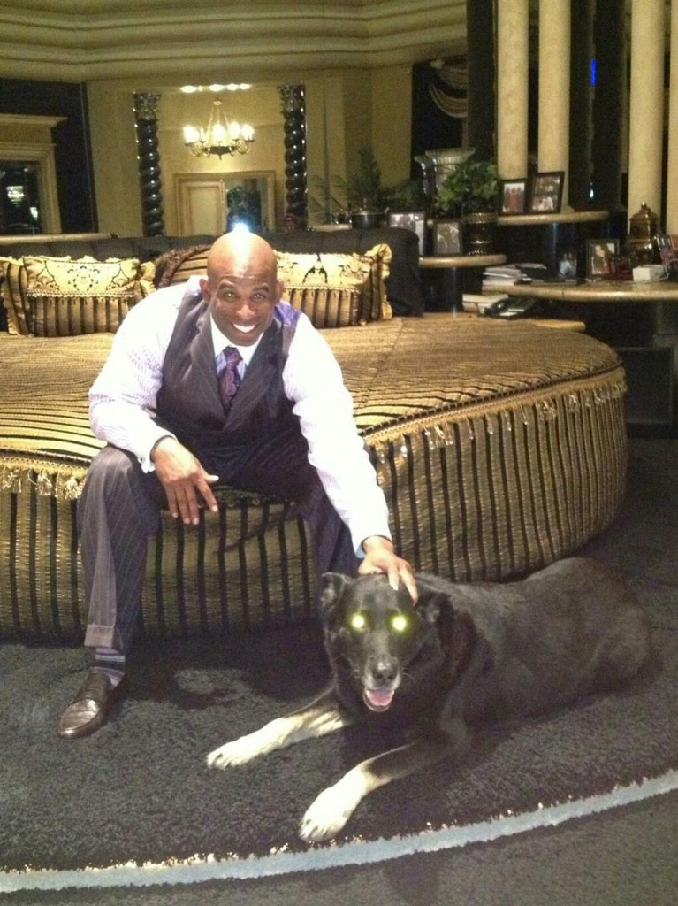 deion and dog